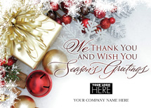 Gift of Thanks Holiday Logo Cards